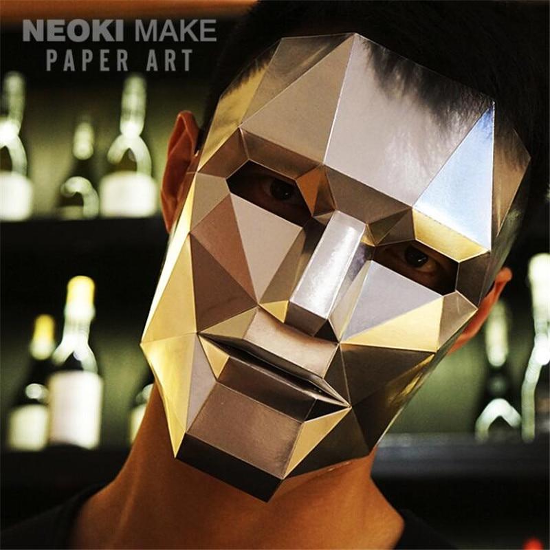 Creative Handwork Robot Paper Matrix Cosplay 3D DIY Mask Fancy Ball Party Man Women Children Fancy Best Gift