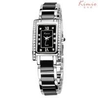 Fashion Brand Kimio Dress Women Bracelet Watch For Diamond Stainless Stainless Steel Rectangle Quartz Watches Relogio