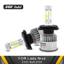 Светодиодная лампочка для автомобиля для Лада Нива 2121 H4 Высокая/ближнего света автомобиль светодио дный фара для Нива 2123 H7 H1 H11 12 В светодио дный замена лампы 4X4