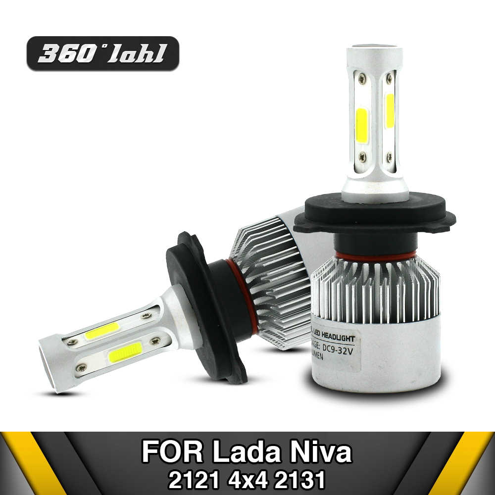 Automotive Led Bulb For LADA NIVA 2121 H4 High/Low Beam Car LED Headlight For Niva 2123 H7 H1 H11 12v Led Replacement Lamp 4X4