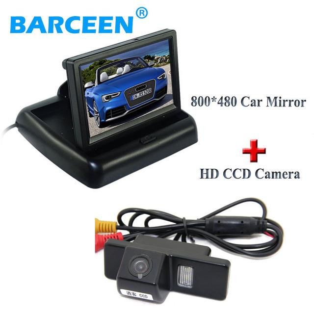 """Posterior del coche cámara de reserva 170 ángulo de 4.3 """"adaptar monitor del coche para NISSAN QASHQAI X-TRAIL para Citroen C4/C5 para Peugeot 307 Hatchback"""
