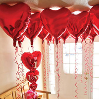 5pcs Lot 18 Inch Aluminum Membrane Helium Into Heart Shaped Balloons Add Atmosphere Balloon Wedding Party