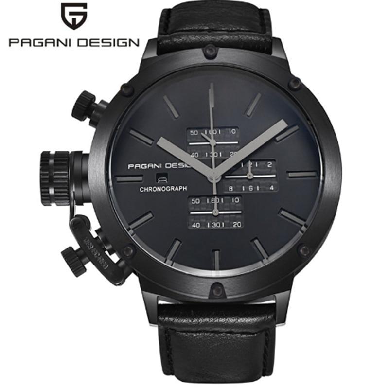 PAGANI DESIGN Sport montres hommes plongée polyvalent Unique innovant chronographe montre pour hommes multifonction étanche montre - 2
