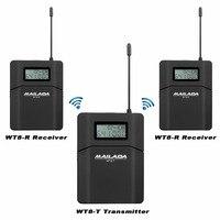 MAILADA WT8 UHF 638-648 мГц 1 передатчик + 2 приемники Беспроводной микрофон гарнитуры аудио гид Системы одновременных преподавания