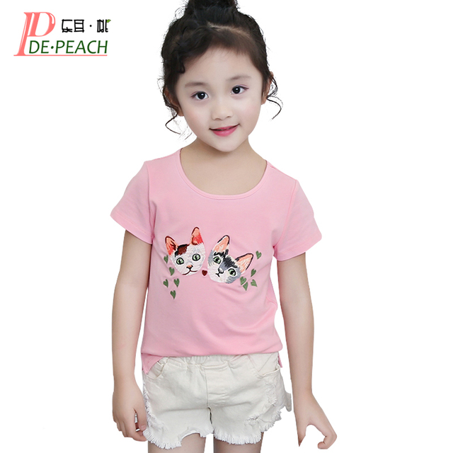 Baby Girls Trendy Pink T Shirts Teenager Casual Tops Girl New Cute