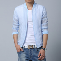 2017 Summer Left Rom Jackets Men Classic Translucent Sun Clothes New Mens Casual Long Sleeve Jacket