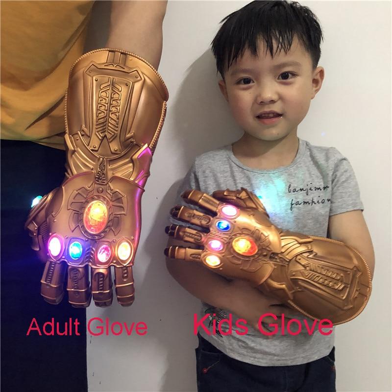 Gantelet infini Thanos gantelet Thanos gant Avengers 4 Endgame Cosplay gant adulte enfants PVC gants LED cadeau accessoires Halloween