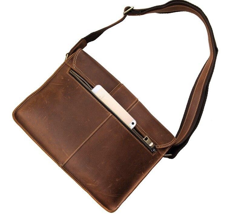 Braun Echtem J7263 Horse Schulter Umhängetasche Reisetaschen Crazy Herren Leder Männer Jahrgang md Messenger Bags Casual zTU4HY