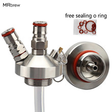 New 304 Stainless Steel Mini Keg Tap Dispenser with 12'' beer hose for Mini Craft Beer Keg Growler Homebrew Spear 3.6L/5L/10L(China)