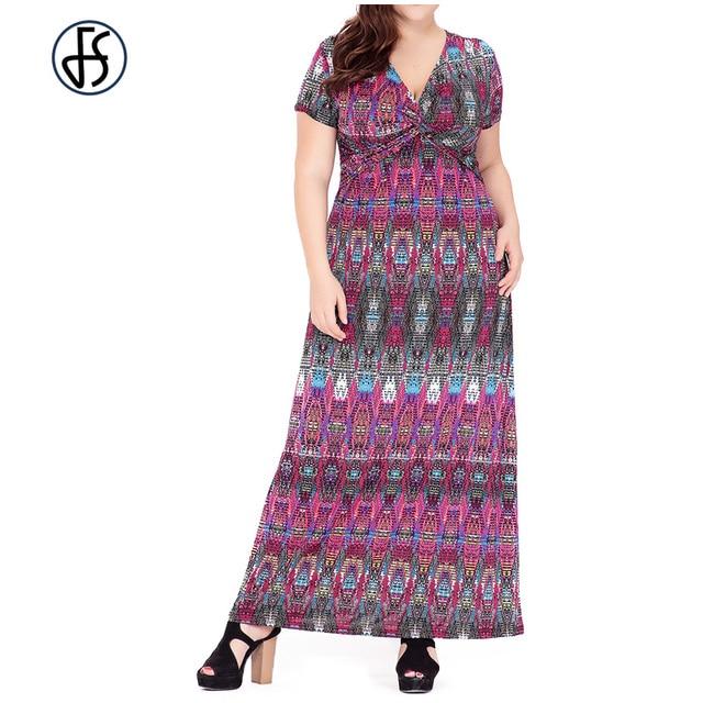 f662cc798ca FS Plus Size Maxi Long Summer Maxi Dress Women Clothing 2017 Purple Blue  Large Big Size Elegant Beach Tunic Sundress Vestidos