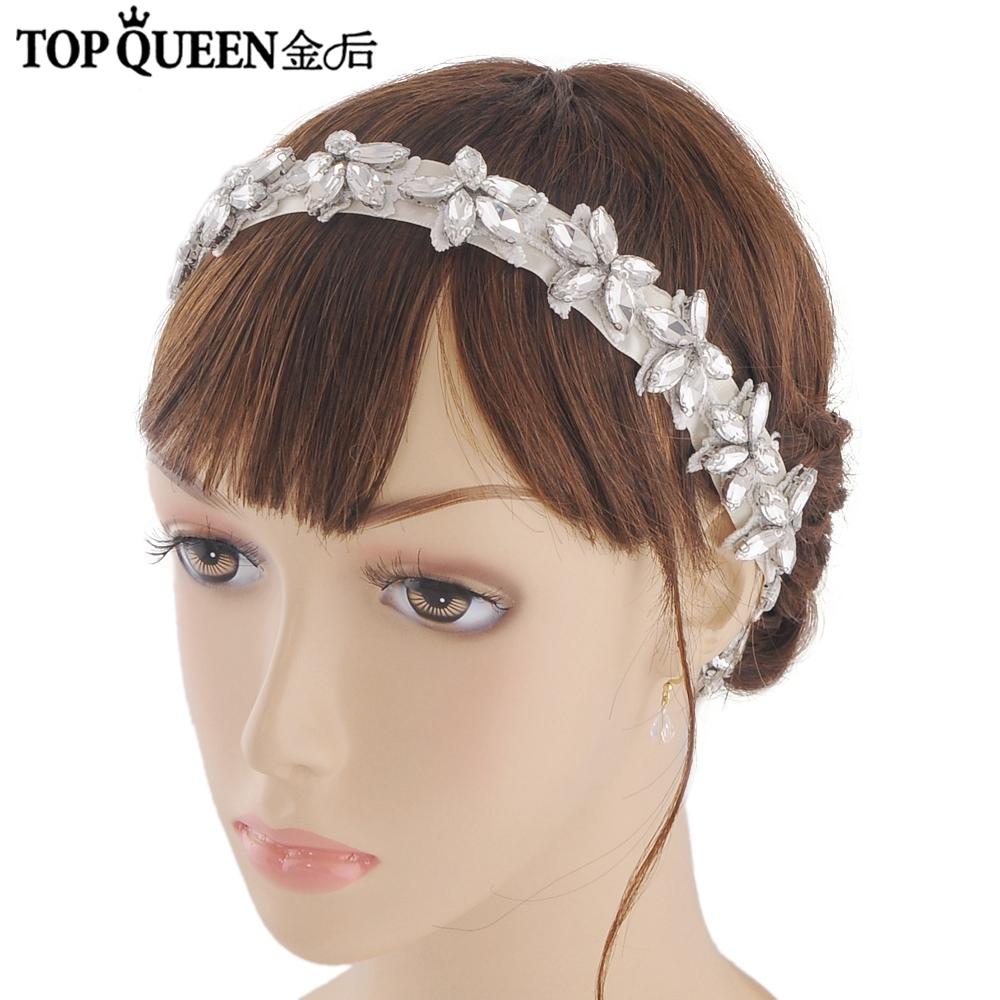 Topqueen h96 модные стразы повязки для волос аксессуары с украшением