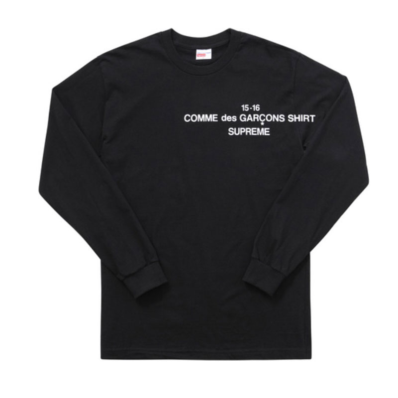 bfbfa3db97ec Sup X CDG L/S T Shirt 15FW A long sleeved T shirt sweater TEE-in T ...