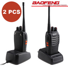 2PCS Baofeng BF-888S Walkie Talkie Transceiver UHF 400-470MHz Two Way Radio bf-888s Handheld CB Radio with free headset