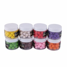 Relefree 50Pcs/Field 10mm Fishing Beads Lure Bait Scent Pop ups Carp Fishing bait Floating ball beads feeder Baits eight colours