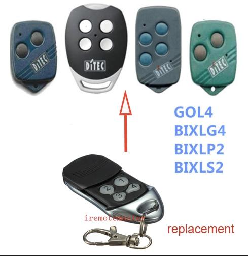 DITEC GOL4, BIXLG4, BIXLP2,BIXLS2 garage door remote control top quality