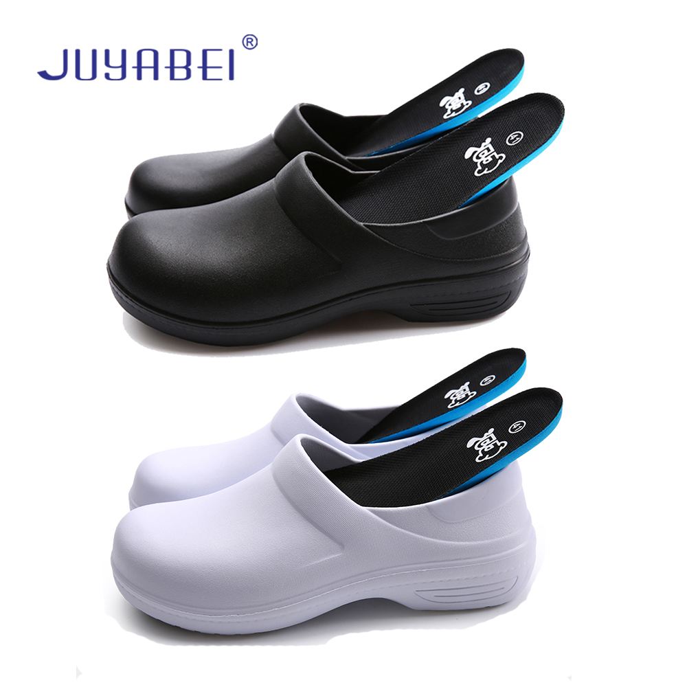 Summer Unisex Kitchen Slip Wear-resistant Chef Shoes Restaurant Canteen Cafe Bakery Chef Waiter Wearable Cleaning Work Shoes image