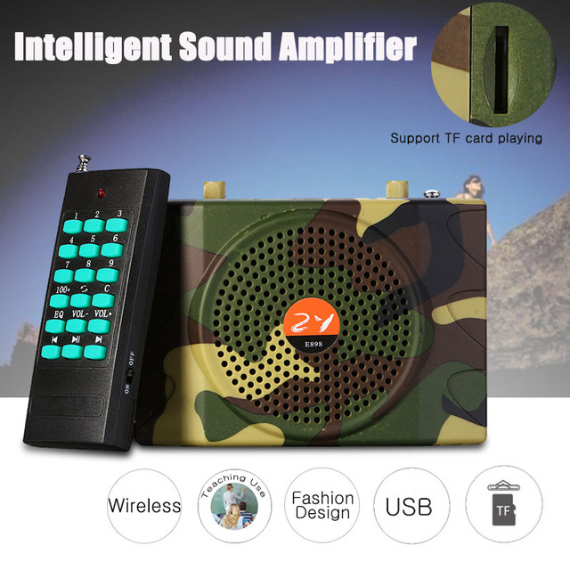 38W Portable Sound Wireless Remote Control Amplifier Teaching Speaker FM Radio USB Hunting Decoys Loud Speaker Bird Caller MP3