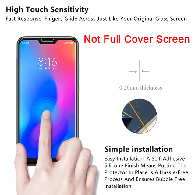 2PCS Protective Glass for Redmi 8 8A 7 7A 5 Plus Film Screen Protector for Xiaomi Redmi K20 Pro 6 Pro 5A 6A Tempered Glass 9H HD
