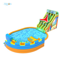 Outdoor Entertainment Inflatable Water Park Water Toys Slide Pool