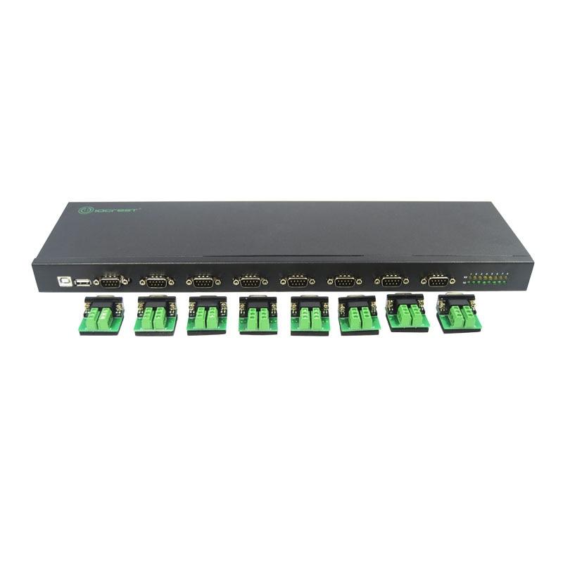 USB2.0 à 8 Port RS422/485 Adaptateur Convertisseur FTDI Chipset Série Multiplicateur de Port USB À RS485 Hub