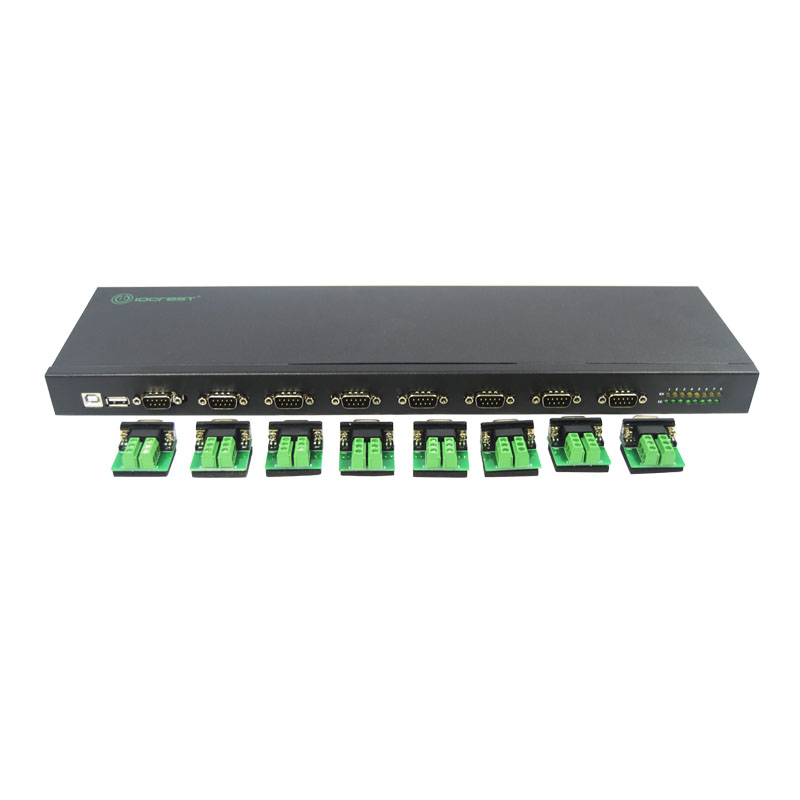 USB2.0 to 8 Port RS422/485 Adapter Convertor FTDI Chipset Serial Port Multiplier USB TO RS485 Hub hightek hk 5110a industrial grade 1 port rs232 485 to 4 port rs485 hub each port with optical isolation 600w thunder protection