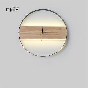 Nordic simple นาฬิการอบโคมไฟผนังที่เรียบง่ายห้องรับประทานอาหารห้องนั่ง