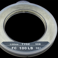 TYOZ Brand NO.45# 150LB 100% fluorocarbon fishing line Carbon Fiber Leader Line Sea Fishing Line