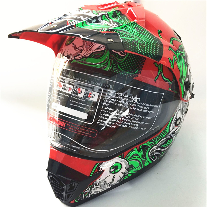 Motocross Motorcycle Helmet Male Personality Force Full The Four Highway Breathable Sunscreen Vintage Capacity Casquecar