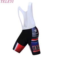USA 2017 NEW CROSS CYCLING BIB SHORTS Hot Summer Race Cycling Bottom With Italy Grippers Leg