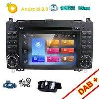 2Din Android8.0 4G Car DVD Player GPS Navigation Head unit for B200 A B Class W169 W245 Viano Vito W639 Sprinter W906 Radio WIFI