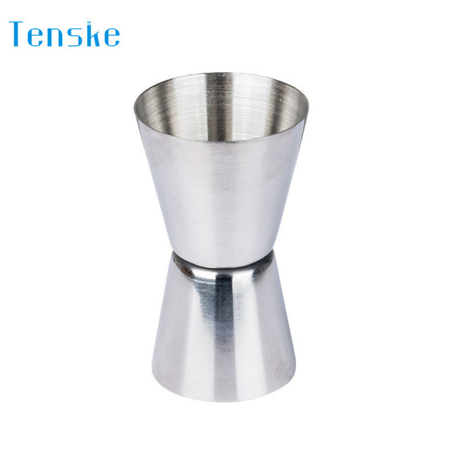Cocktail Measuring Jigger Double Jigger Measure Shot Drink Spirit Measure Cup LE2