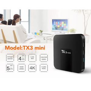 Image 3 - DQiDianZ Android 8.1 TX3mini Smart TV BOX Amlogic Quad Core Multimedia 2.4G Wifi KD Screen Display TX3 MINI Set Top Smart box