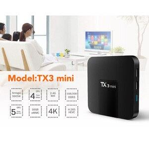 Image 3 - DQiDianZ Android 8.1 TX3mini Smart TV BOX Amlogic Quad Core Multimediale 2.4G Wifi KD schermo di Visualizzazione Dello Schermo TX3 MINI Set top Smart box