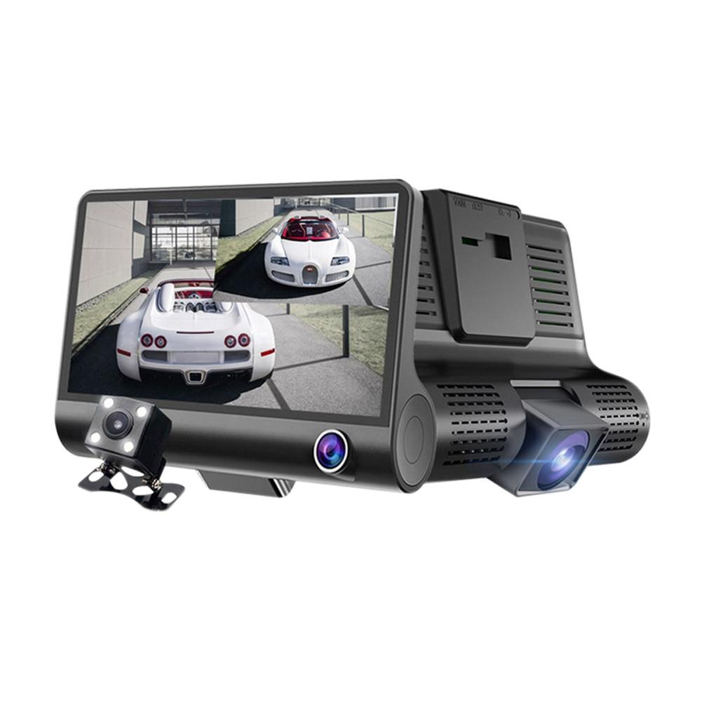 1080P HD 170 Degree 3 Lens Car DVR Dash Cam G-sensor Recorder + Rearview Camera DXY88 plusobd car recorder rearview mirror camera hd dvr for bmw x1 e90 e91 e87 e84 car black box 1080p with g sensor loop recording