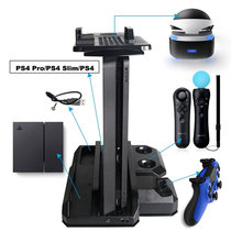 19 Multifunctional Vertical Console Cooling Stand PS4 Pro PS4 Slim/PS4 PS Move PS4 Controller Charger Station VR Showcase Holder(China)