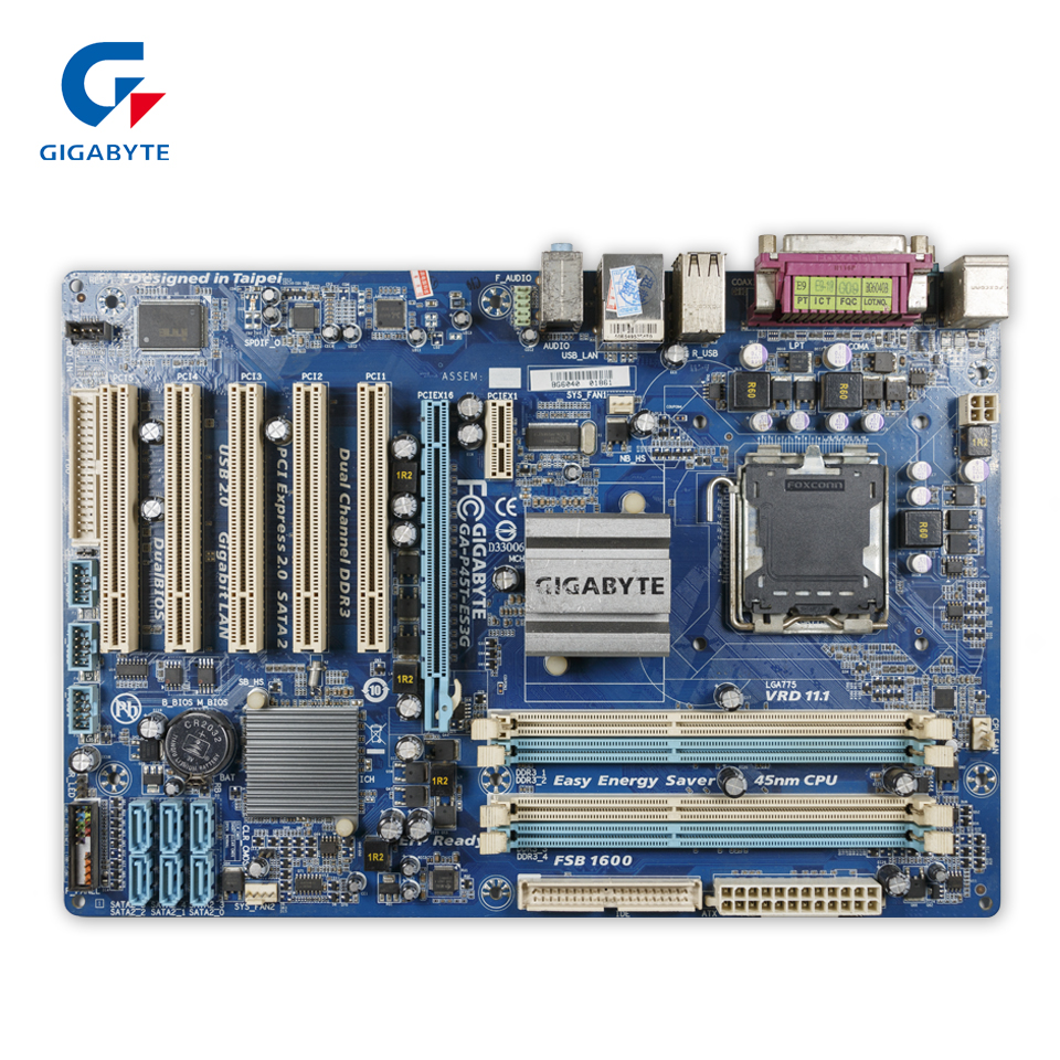 Gigabyte GA-P45T-ES3G Original Used Desktop Motherboard P45T-ES3G P45 LGA 775 DDR3 16G SATA2 USB2.0 ATX gigabyte ga ep45 ud3l original used desktop motherboard ep45 ud3l p45 lga 775 ddr2 16g sata2 usb2 0 atx