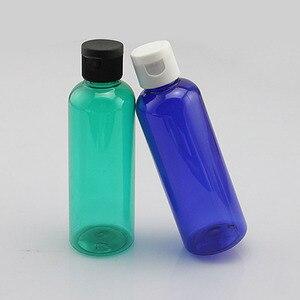 Image 4 - 100ml krem z tworzywa sztucznego butelka wielokrotnego napełniania Essence Lotion wieczko na zatrzask puste butelki niebieski zielony biały brązowy pojemnik