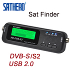 Sathero SH-100HD Digital Pocket Satellite Finder TV Signal Strength Meter HD Satellite Receiver DVBS/S2 with USB 2.0 LCD Display