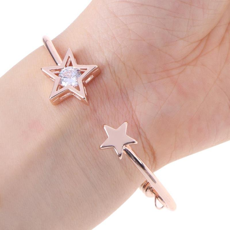Adjustable Open Bracelet Bangles Fashion Charm Open Cuff Bracelet For Women Rhinestone Jewelry Gift For Girls