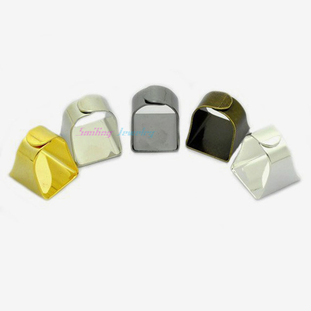 100pcs 20mm Ring Blanks Square Ring Settings Stamping Blanks Adjustable Flat Pad for Cameo Base Men DIY Rings