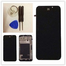 For ZTE Grand S2 S291 s251  LCD Display + Touch Screen Digitizer Assembly +frame free shipping  black