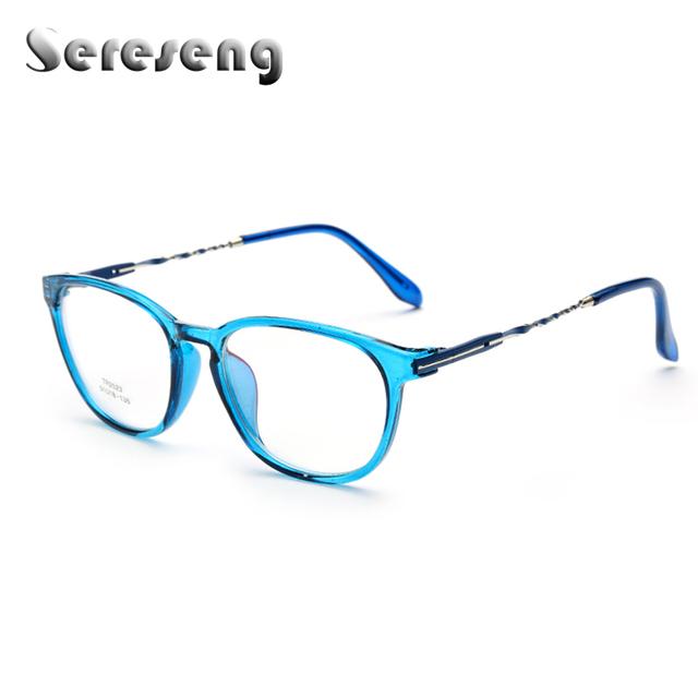 2017 Mulheres Óculos Limpar Lens Frame Ótico Óculos de Computador Quadro Oval de Metal Templos Vidros do Olho 2523
