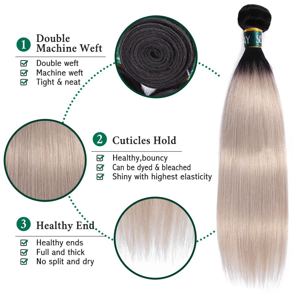 colorido cabelo humano prata cinza brasileiro cabelo