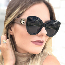 PAWXFB 2019 Brand Designer Cat Eye Female Sunglasses Women Fashion Oversized Hand Made VintageEyewear Shades