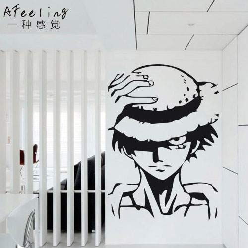 dctal luffy one piece decal japanese cartoon one piece wall stickers