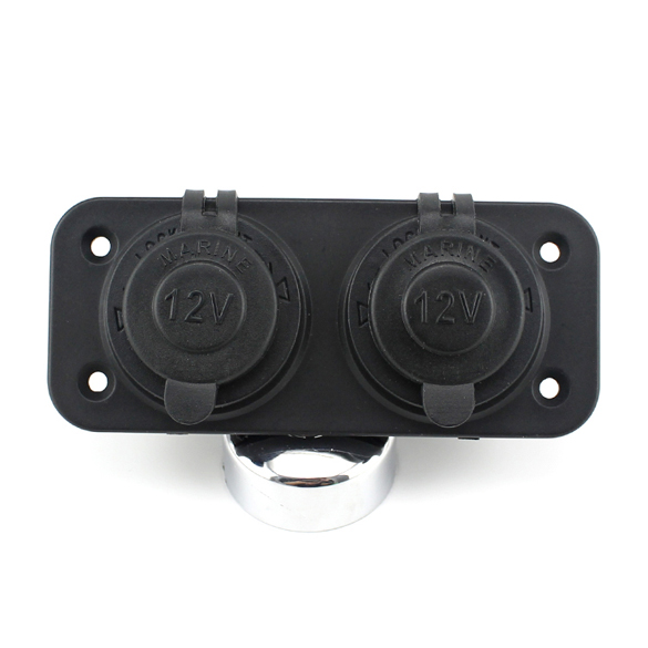 Waterproof 2x12V 10A Dual Car Cigarette Lighter Socket Power Charger Cigarette Lighter Plug for Car Truck