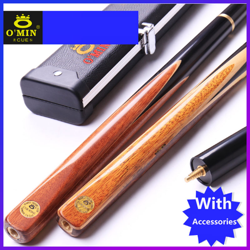 O Min 3 4 Jointed Snooker Cues Sticks Cue King with 3 4 Snooker Cue Case