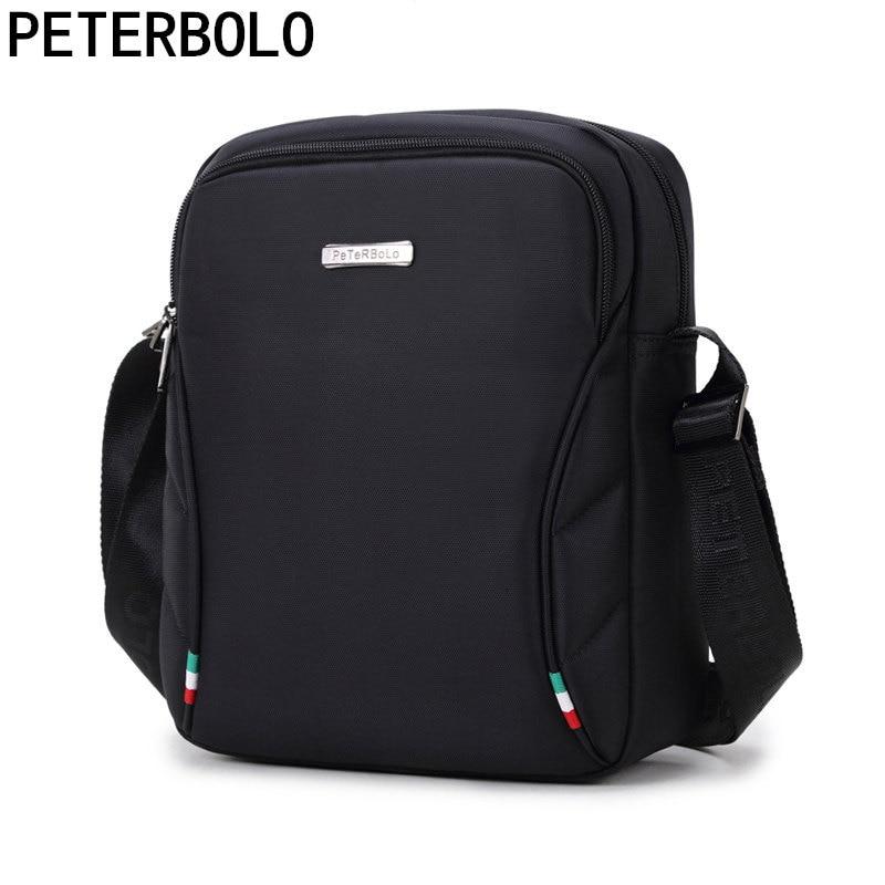 Peterbolo Водонепроницаемый Оксфорд сумка Для мужчин Сумки-холсты сумка Повседневное сумка IPAD мобильный телефон носимых работы посылка ...
