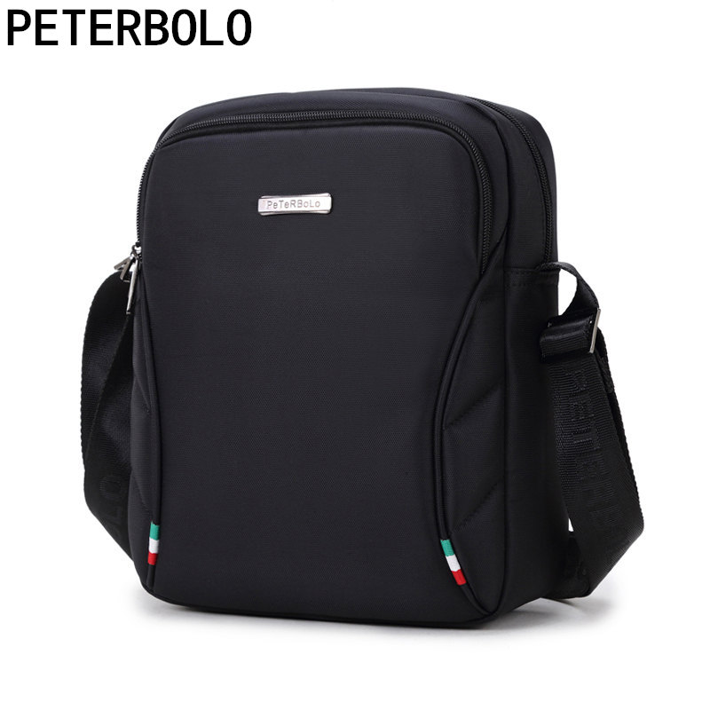 Peterbolo Waterproof Oxford Shoulder Bag Men Canvas Bag Crossbody Bag Casual Bag IPAD Mobile Phone Wearable Work Package