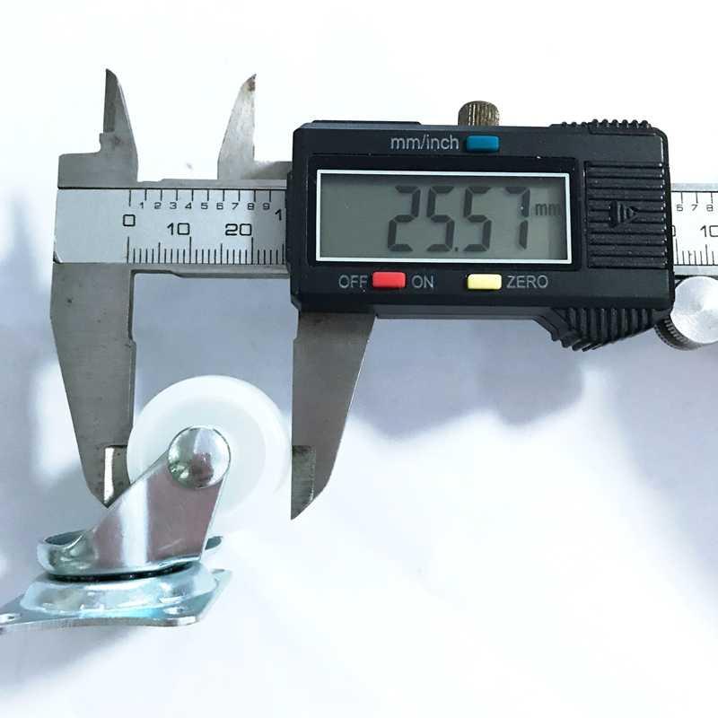 1 PCS Mobil Pintar Persegi Panjang Top Putar Caster Castor PP Nilon Diameter Roda Yang Universal Roda Beban berat 10 kg
